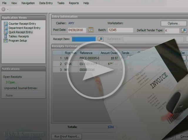 cash receipting software municipal finance management bs a
