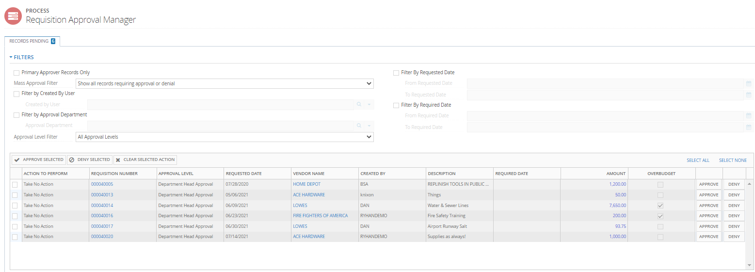 PO Approval Manager screenshot