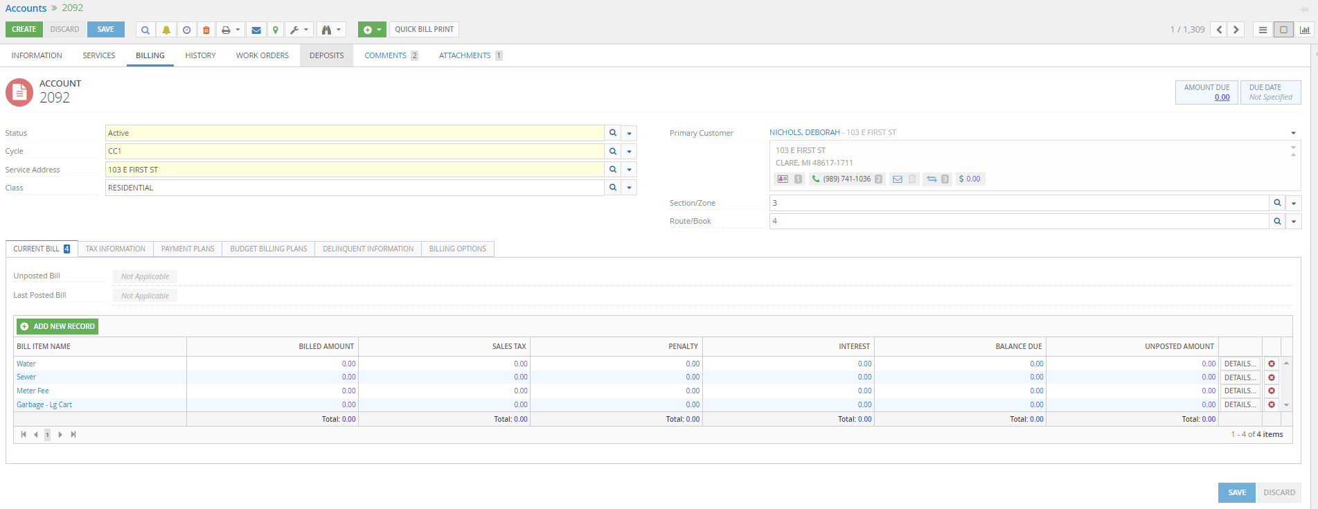 UB Accounts Screen screenshot